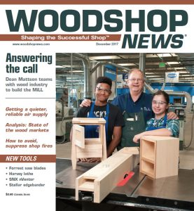 The Mill Updates - Woodshop News Cover-B 12.5.2017